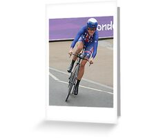Kristen Armstrong - Starts The Women`s Individaul Time Trial - London 2012 Greeting Card