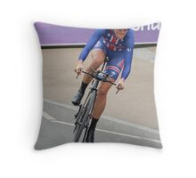 Kristen Armstrong - Starts The Women`s Individaul Time Trial - London 2012 Throw Pillow
