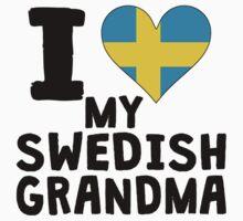 I Heart My Swedish Grandma Kids Tee