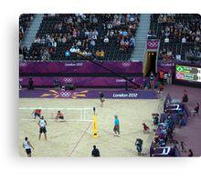Brazil v Norway Beach Volleyball  Canvas Print