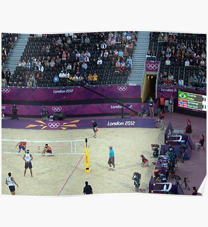 Brazil v Norway Beach Volleyball  Poster