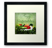Amazing Vegetables  Framed Print