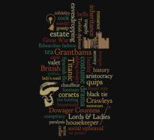 Downton Abbey Word Mosaic