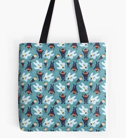 Yukon, Hermey and the Bumble in Teal Tote Bag