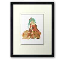 Christmas Miku Framed Print