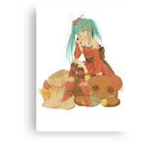 Christmas Miku Canvas Print