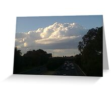 Cloud over freeway  Greeting Card