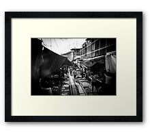 Maeklong Train Market Framed Print