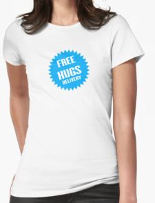 Free hugs delivery Womens Fitted T-Shirt