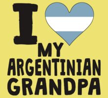 I Heart My Argentinian Grandpa One Piece - Short Sleeve