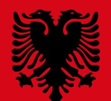 Albanian American Multinational Patriot Flag Series Sticker