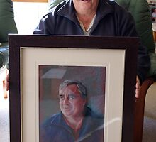 Ken with his Portrait by Lynda Robinson