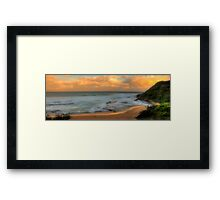 Turimetta Sunset - Turimetta Beach #4 Panorama, Sydney Australia - The HDR Experience Framed Print