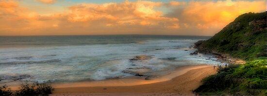 Turimetta Sunset - Turimetta Beach #4 Panorama, Sydney Australia - The HDR Experience by Philip Johnson