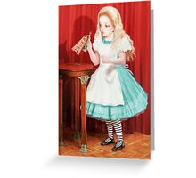 Alice - Drink Me Greeting Card