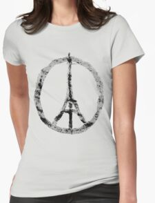 Pray for Paris Womens Fitted T-Shirt