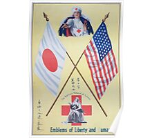 Emblems of liberty and humanity The Red Cross mother of all nations Poster