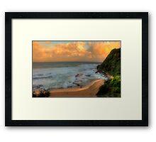 Turimetta Sunset - Turimetta Beach, Sydney Australia - The HDR Experience Framed Print