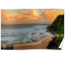 Turimetta Sunset - Turimetta Beach, Sydney Australia - The HDR Experience Poster