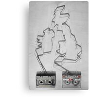 Tape & shadows - British Canvas Print
