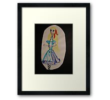 Alice in the land of... Wondernecks Framed Print