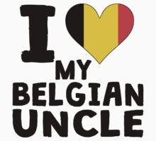 I Heart My Belgian Uncle Kids Clothes