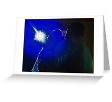 Blue Light Couple Greeting Card