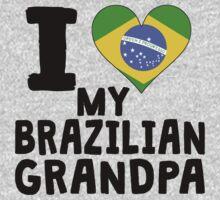 I Heart My Brazilian Grandpa Baby Tee