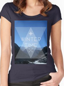 Winter Time Women's Fitted Scoop T-Shirt