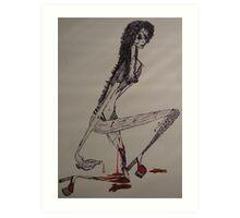 One-legged prostitute... Art Print