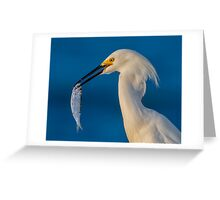 Catch at the Pier Greeting Card