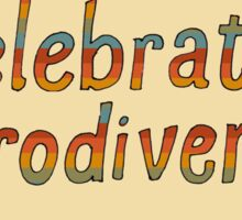 Celebrate Neurodiversity - Retro Rainbow Sticker