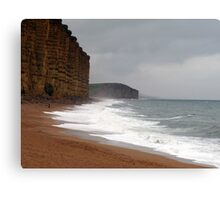 Nature v Man at West Bay in Dorset Canvas Print