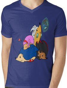 Sonic & Hedgehogs Mens V-Neck T-Shirt