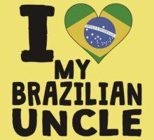 I Heart My Brazilian Uncle Kids Tee