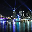 Brisbane Festival Light Show 2011 by SunnieGal