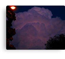 Cloud strike Canvas Print