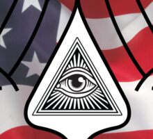 American Illuminati Hands Diamond Sticker