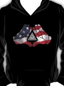 American Illuminati Hands Diamond T-Shirt