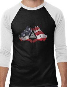 American Illuminati Hands Diamond Men's Baseball ¾ T-Shirt