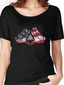 American Illuminati Hands Diamond Women's Relaxed Fit T-Shirt