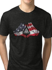 American Illuminati Hands Diamond Tri-blend T-Shirt