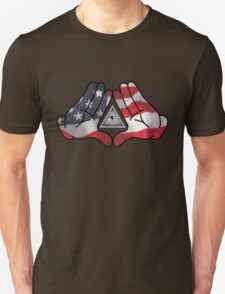 American Illuminati Hands Diamond Unisex T-Shirt