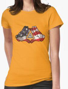 American Illuminati Hands Diamond Womens Fitted T-Shirt