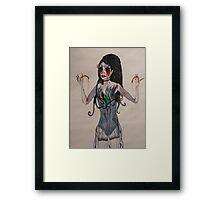 Sarah Brightman... Seems to be missing her eye balls... Framed Print