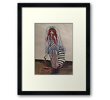 A bloody kind of a bride Framed Print