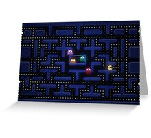Pacman Greeting Card