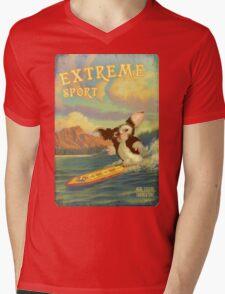 Retro Surf Mens V-Neck T-Shirt