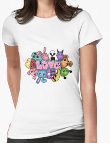 Doodle love - Colors /White Background Womens Fitted T-Shirt