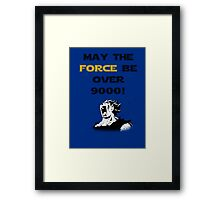 May the force be...over 9000! Framed Print